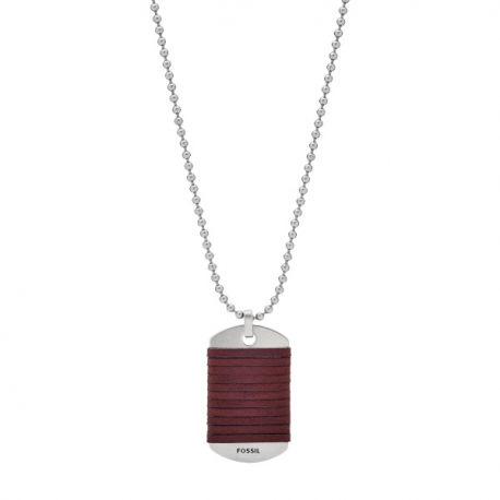 fossil collier homme cuir